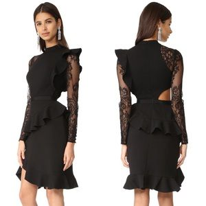 Ophelia Long Sleeve Lace Jersey Dress